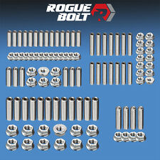 AMC JEEP V8 ENGINE STUD KIT BOLTS STAINLESS STEEL 290 304 343 360 390 401