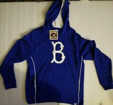 NWT Majestic MLB Cooperstown Collection Brooklyn Dodgers blue Hoodie Men's sz L