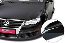 CSR Scheinwerferblenden Set für VW Passat 3C 2005- Böser Blick Glossy Schwarz gl