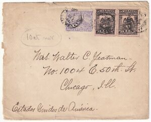 COLOMBIA - USA - 1000 DAYS WAR - 40c CENSORED COVER - B/QUILLA CHICAGO - 1902
