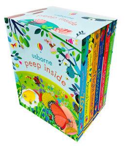 Usborne Peep Inside 6 Board Books Children Collection Box Set By Olga Demidova