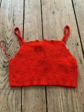 New!! Wonderful ZARA Chunky Red Cotton Knit Cropped Cami Vest TOP, Medium