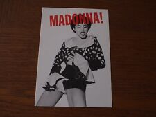 "Rare MADONNA Handy 1990 Interview Magazine cover POSTCARD 4""x6"" Blonde Ambition"
