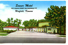 Sonner Motel-Highway 77-Winfield Kansas-Vintage Advertising Postcard