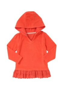 BNWT, Girls, Beach Hoodie, Orange, Size 3 - 4 years