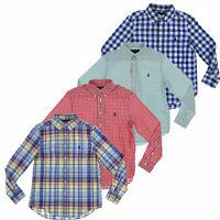 Polo Ralph Lauren Boys Buttondown Woven Shirt Long Sleeve Pony Logo New S M L XL