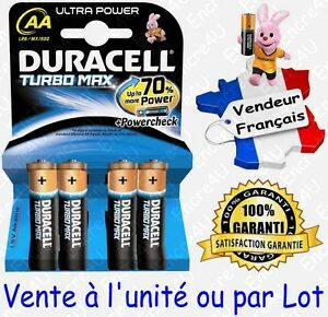 Piles DURACELL AA LR06 LR6 MN1500 - Gamme Alcaline ULTRA POWER / TURBO MAX 1,5V