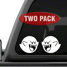 BOO Super Mario Brothers TWO PACK - Vinyl decals for car, truck 15 Colors Avail