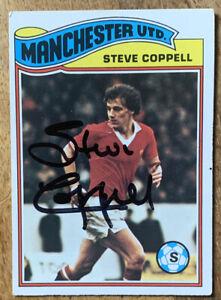 Signed 1970s Topps Trading Card Steve Coppell Orange Back Manchester United