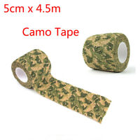 1pc Army Green Camo Wrap Self-adhesive Airsoft Hunting Camouflage Stealth Tape