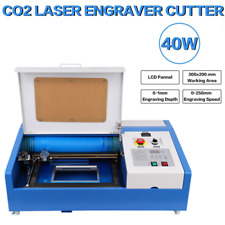 12x8 40w Co2 Laser Engraving Cutting Machine Engraver Cutter With 4 Wheels