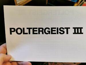 poltergeist 3 rare synopsis booklet press booklet nancy allen 1988