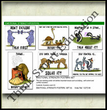 EMOTIONAL STRENGTH BULLYING CONFLICT SCHOOL EDUCATIONAL POSTER SET (6) ~ A3 SIZE