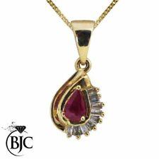 Collares y colgantes de joyería rojo natural diamante