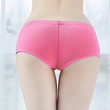 Ladies Womens Sheer Transparent Panties Knicker Zipper Crotchless Boxer Shorts