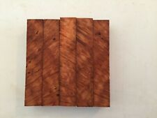 "Redwood Lace Burl Pen Blanks Rod Seat AAA Quality - 1 x 1 x 5"" - 5 pieces - 1873"