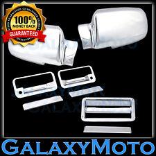 88-98 GMC C1500+C2500+C3500 Triple Chrome Mirror+2 Door Handle+Tailgate Cover