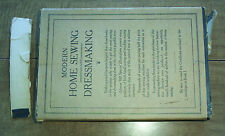 MODERN HOME SEWING & DRESSMAKING, 1921 - 12 VOLUMES w/ ORIG. OWNER'S CERTIFICATE