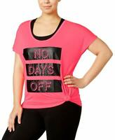 Material Girl Womens Active Plus Size Graphic Top Flashmode Size 3X