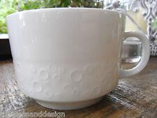 """Kaiser Porzellan Serie? """"Krater"""" uni weiß Tasse Kaffee- und Teetasse 8,2cm Ø"""