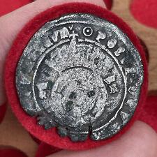 More details for henry viii, 1509-47. silver hammered testoon, mm. pellet in annulet, 1644-47.