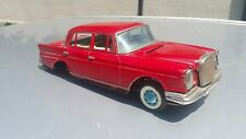 VNTG. MERCEDES BENZ 230 SEDAN 60s TOY JAPAN BANDAI OPENING HOOD BATT. OPERATED