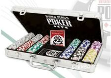 Mallette WSOP 300 jetons World Series Poker Clay composite + 2 jeux cartes 00125