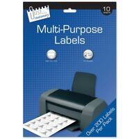 Multi Purpose Labels Self Adhesive Sticky Address Labels Printer Paper Sheets