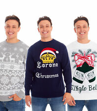 Mens Christmas Xmas Jumper Sweater Novelty Jumpers Ugly Pullover Santa Reindeer