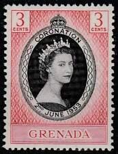 Grenada postfris 1953 MNH 162- Coronation Elisabeth II (054)