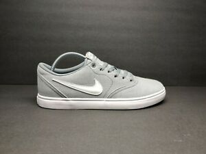 NIK E SB  Check Solar Canvas CNVS Shoes Men's - Woman's  843896 003 Grey White