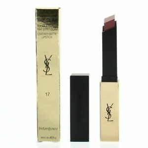 RRP £31 New Boxed YSL ROUGE PUR COUTURE THE SLIM LIPSTICKS leather & sheer matte