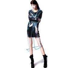 Festival del Reino Unido Azul PVC Vinilo Impermeable Runway Style Talla XL