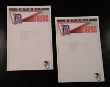 "Two (2) MLB Detroit Tigers 5"" x 8"" licensed note pads 40 sheets per"
