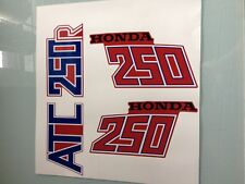 81 82 Honda ATC250R Sticker Tank and Fender Set ATC 250R Decal