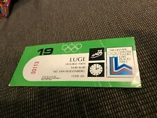 1980 Olympics Ski Jump Ticket Lake Placid Toni Innauer Manfred Deckert Yagi