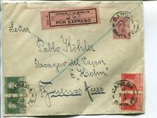 Argentina uprated express stationery cover, Santa Fe to Buenos Aires 1923