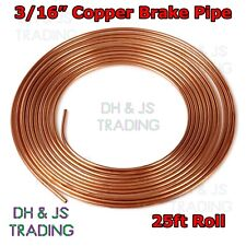 Copper Brake Pipe Hose 25ft 3/16  - Line Roll Tube Piping Joint Union 3/16""
