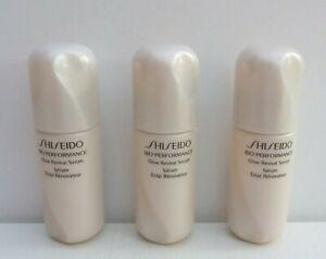 3x Shiseido Bio-Performance Glow Revival Serum, 3x7ml=21ml, Brand New!