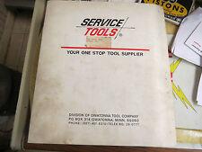Service Tools, Binder of Manuals, Central tool, Hanson Ace, J-Mark, Kleer-Flo, +
