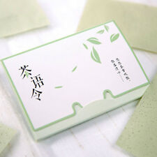 100 Skin Oil Control Sheets Absorbing Tissue Face Care Blotting Paper Green Tea