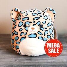 "*SALE* Kellytoy Squishmallows 8"" Liv the Blue Leopard Cheetah NEW HTF Plush Toy"