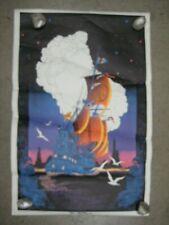 Friendship Brigade 1971 black light poster vintage psychedelic (creased) C1992