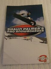 PLAYSTATION 2 MANUAL ** SHAUN PALMER`S PRO SNOWBOARDER ** INSTRUCTION BOOK