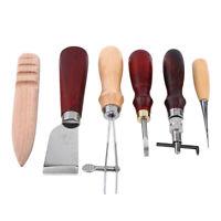 6 piezas de cuero para hacer artesanía herramienta de Punta Biseladora