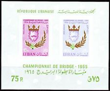 Libano Lebanon 1965 ** bl.30 Bridge-re bridgeking WM World Championship