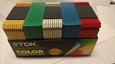 New 50 Pack TDK High Density Color Floppy Disc MF-2HD IBM / DOS Formatted Sealed