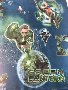 Green Lantern Flat Bed Sheet Twin Size DC Comics by Franco MFG Fabric Crafts