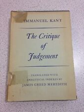 The Critique of Judgement, by Imannuel Kant (Oxford,1964)
