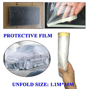 Automotive/House Painting Masker Tape with Plastic Drape Masking Film 1.1M*30M
